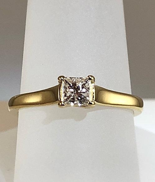 1/3 Carat Princess Cut Diamond Ring - Size 7
