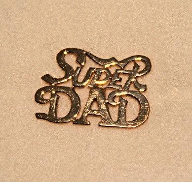 Super DAD 14KT Gold Tie Tack