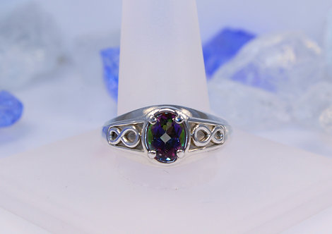 Sterling Silver Mystic Topaz Infinity Ring
