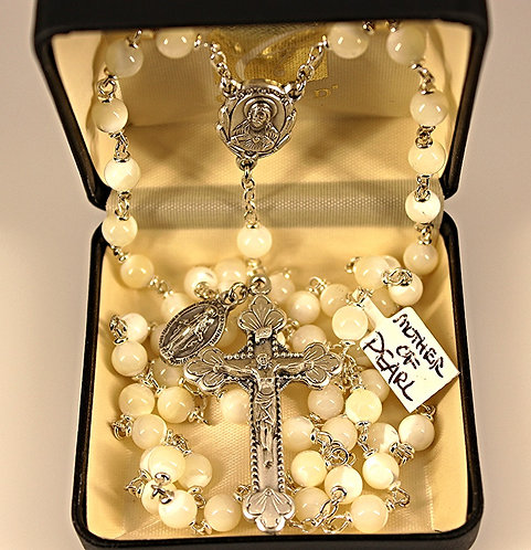 Genuine Mother Of Pearl Rosary