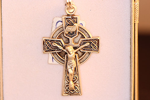 Celtic Sterling Silver Crucifix