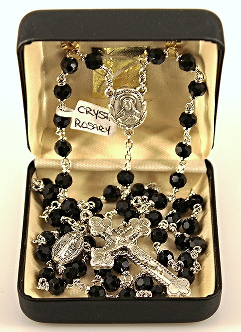 Austrian Crystal Rosary - Black