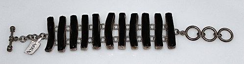 Black Coral & Sterling Silver Bracelet