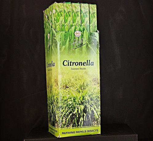 Flute Citronella Incense From India-Box of 8