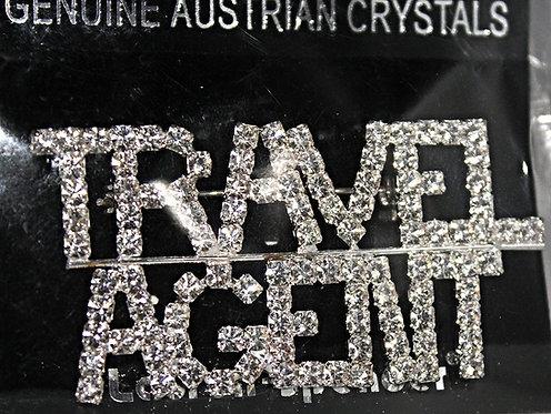 "Austrian Crystal ""TRAVEL AGENT"" Pin"