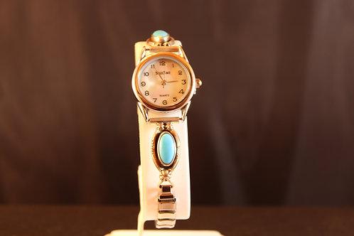 Sleeping BeautyTurquoise & Silver Watch