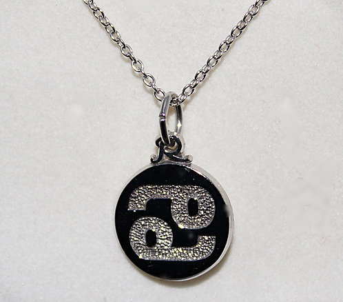Sterling Silver Cancer Pendant And Chain