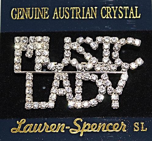 "Austrian Crystal ""MUSIC LADY"" Pin"