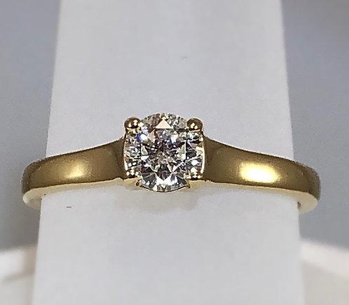 .50 Carat Diamond - 14kt Yellow Gold Band - Size 7