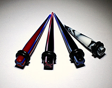 2GA Acrylic Tapers - 4 Designs