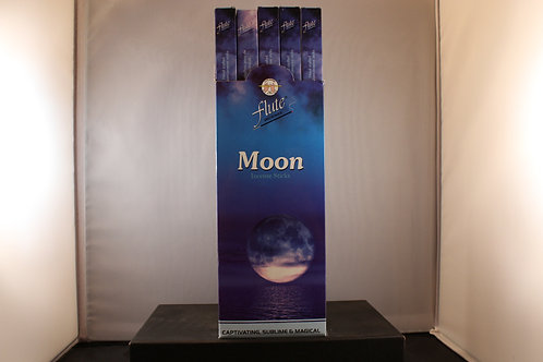 Flute Moon Incense from India- Box of 8 Sticks