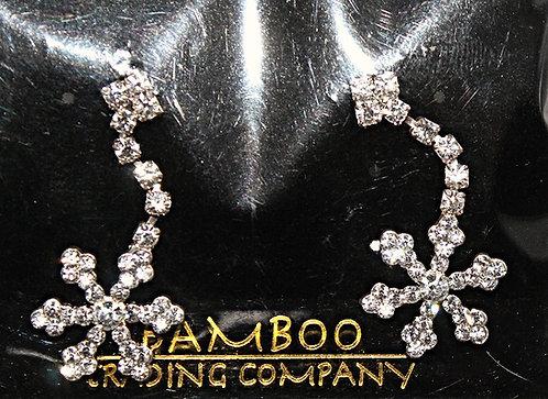 Austrian Crystal Snowflake Earrings