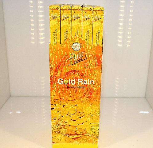 Flute Gold Rain Incense Sticks/India-Box of 8