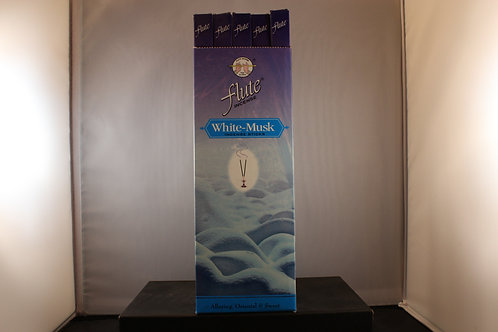 Flute White Musk Incense from India-Box of 8