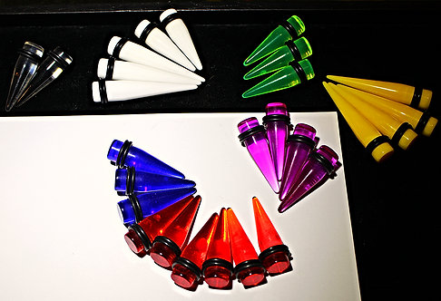 00GA Acrylic Tapers - 7 Colors In Stock