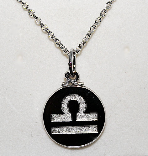 Sterling Silver Libra Pendant And Chain