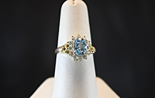 Blue Topaz & Sterling Silver Ring