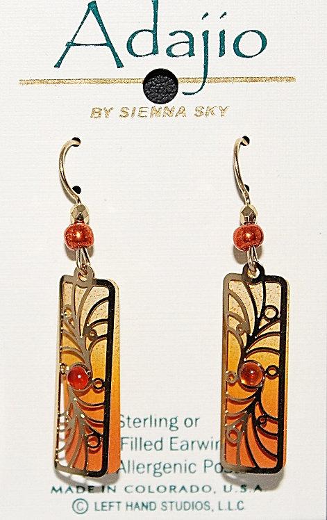 Adajio Burnt Orange Beaded Earrings - P/N 7654