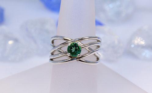 Sterling Silver Rainforest Topaz Ring