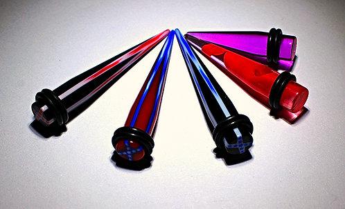 0GA Acrylic Tapers - 5 Designs
