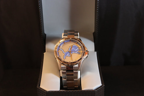 NFL Licensed Watch/Detroit Lions/Stainless Steel