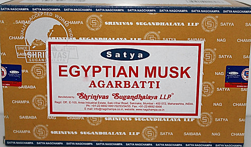Satya Egyptian Musk Incense/Case Of 12 Boxes