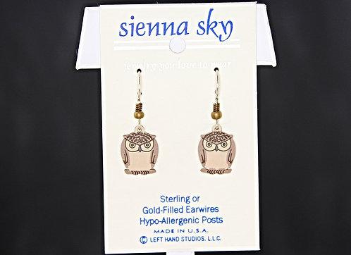 Sienna Sky Owl Beaded Earrings - P/N 1507