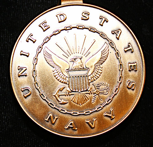 Brass Tone Navy Money Clip