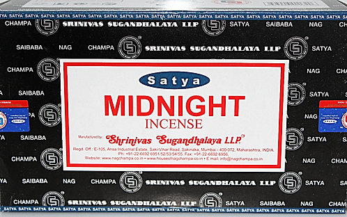 Satya Midnight Incense/Case Of 12 Boxes