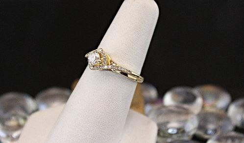 Gold Engagement Ring .60 Carat TW
