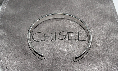 Steel Cuff From Chisel With Custom Pouch
