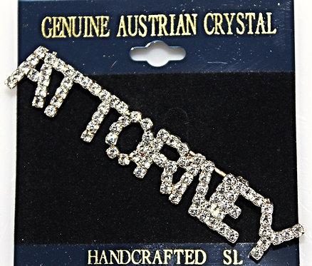 "Austrian Crystal ""ATTORNEY"" Pin"