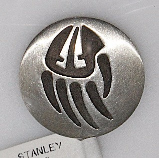 Sterling Silver Handmade Bear Paw Pendant