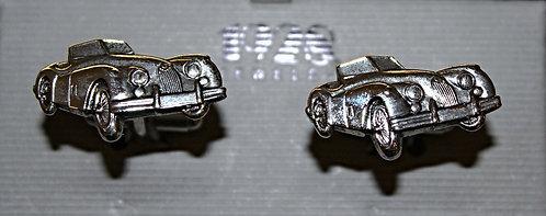 Silver Tone Art Deco Car Cuff Links