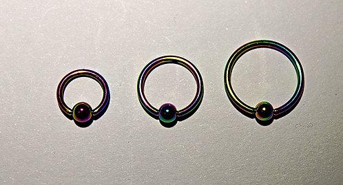 18GA Steel Anodized Ball Closure Ring - Rainbow