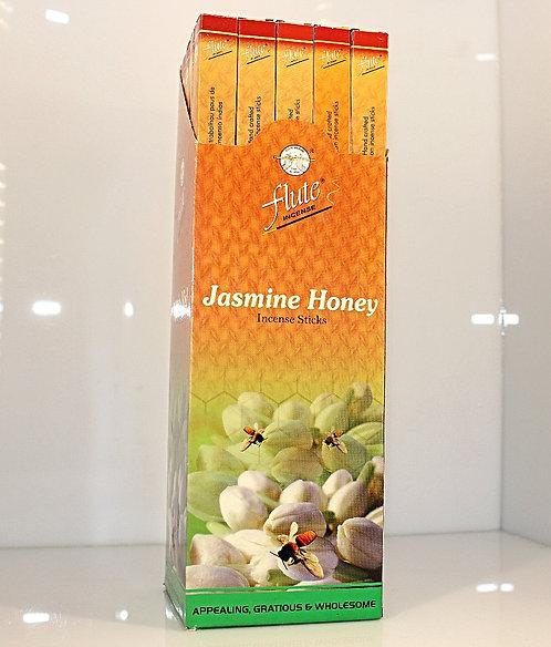 Flute Jasmine Honey Incense/India-Box of 8