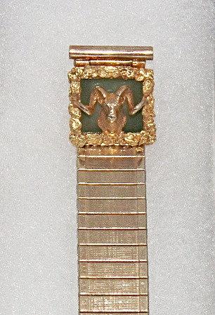 Alaskan Gold Nugget & Jade Watch Band