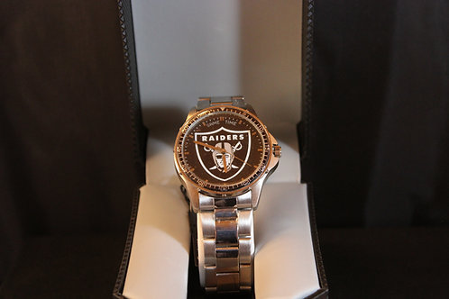 NFL Licensed Watch/Oakland Raiders/Stainless Steel
