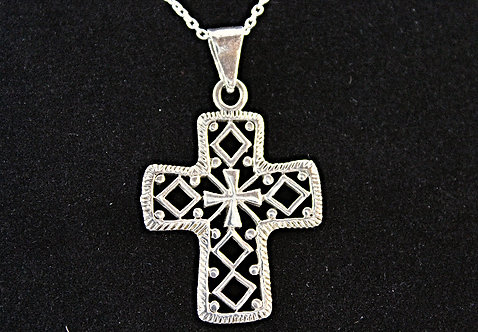 Sterling Silver Cross Within A Cross
