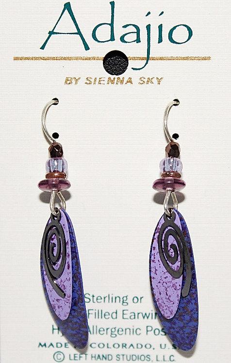 Adajio Blue Theme Beaded Earrings - P/N 7235