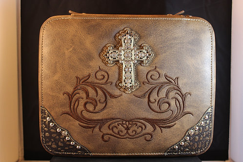 Montana West Bible Cover-MWMBCDC001BROWN