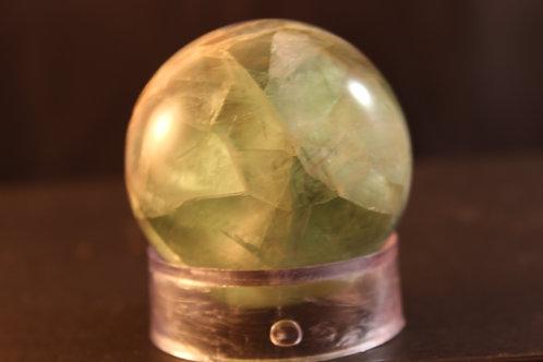 Green Fluorite Sphere - 43 mm