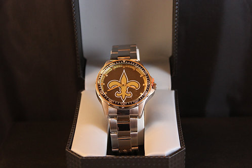 NFL Licensed Watch/New Orleans/Stainless Steel