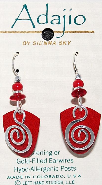 Adajio Swirl Design Beaded Earrings - P/N 7227