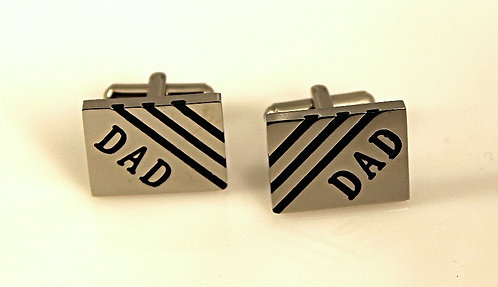 Steel DAD Cuff Links By Chisel
