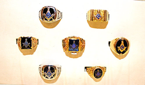 Masonic Rings - 7 Styles In Stock From $249 - $799