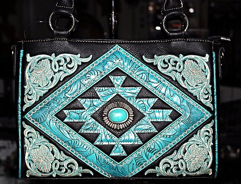 Montana West Black Southwest Handbag