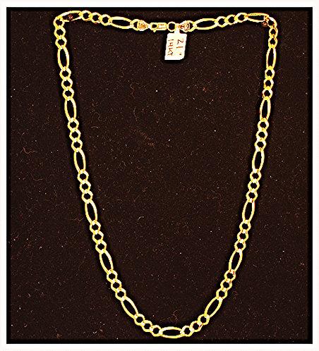 """14K Yellow Gold Figaro Chain - 21""""/5mm"""