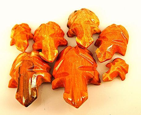 Orange -Brown Stone Turtle Family