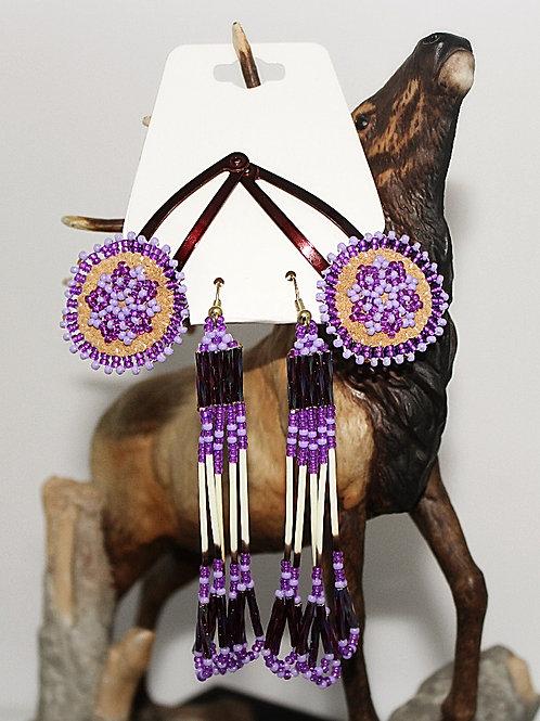 Alaskan Made Beaded Barrette & Earring Set